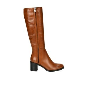 Browns Leather Low Heeled Boots